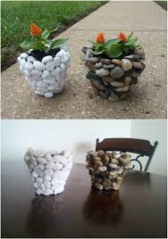 Caterpillar Vase 40 Gorgeous Diy Stone Rock And Pebble Crafts To Beautify Your