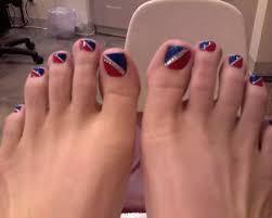 patriotic pedicure toe nails long toe nail long pointed toe