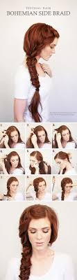 Frisuren Cornrows Anleitung by Best Hair Braiding Tutorials Bohemian Side Braid Festival Hair