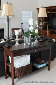 Decorating A Sofa Table Behind A Couch Stunning Decorating A Sofa Table Pictures Amazing Interior