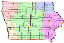 iowa map with cities weather forecast and information