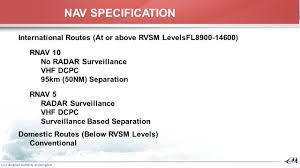 rvsm operations manual proposal for new airspace design outcome of pbn implementation
