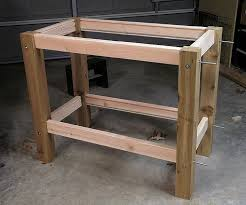 how to build a work table small work bench treenovation