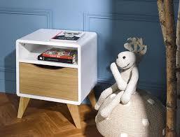 le de chevet chambre table de chevet bloom blanc et chêne