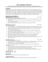 Accounts Payable Specialist Resume Sample by Cover Letter Resume Samples For Accounts Payable Sample Resume For
