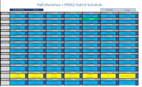 p90x2 half marathon hybrid coach brandon henderson phd