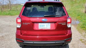 subaru forester 2017 red 2017 subaru forester 2 5i touring w tech test drive review