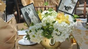 50th anniversary centerpieces 50 wedding anniversary decorations ideas flowers for 50th wedding