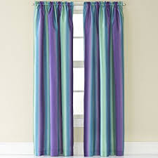 Blue Silk Curtains Amazon Com Rainbow Ombre Faux Silk Curtain Panel Home U0026 Kitchen