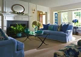 blue livingroom blue living room