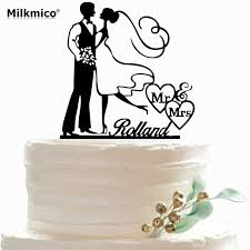 aliexpress com buy bride and groom cake toppers party custom