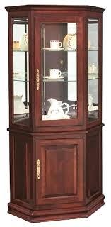 corner curio cabinets for sale corner curio cabinet hardwood corner curio cabinet with enclosed