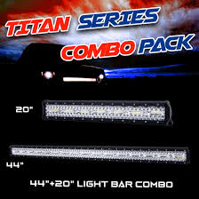 led light bar bundle titan series cree 20inch and 44inch led light bar combo deal 4 4