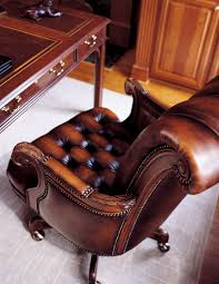 Executive Brown Leather Office Chairs Your Way Sofa And Chair Hancock And Moore