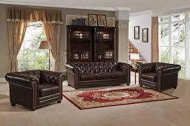 amax kensington 3 piece leather living room set wayfair