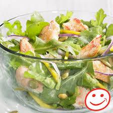 cuisiner crabe salade santé de crabe roquette et julienne de mangue metro