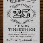 anniversary invitations templates 9 best 25th 50th wedding