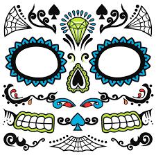 dia de los muertos day of the dead sugar skull temporary