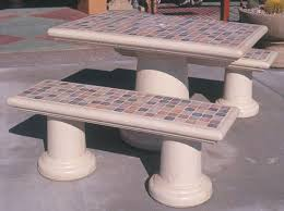 Patio Furniture Table Concrete Landscape Tables Outdoor Concrete Tables Phoenix