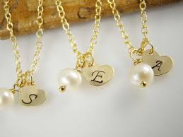 flower girl charms flower girl gift gold initial necklace personalized flower girl