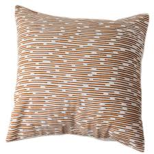 copper dashes pillow cover 16 by 16 handmade and fair trade