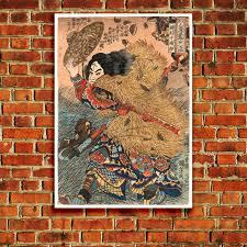 Suikoden World Map by Kinhyoshi Yorin Hero Of The Suikoden U0027 Japenese Wood Block