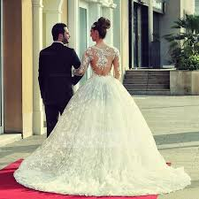 shop discount gorgeous long sleeve illusion high neck ball gown