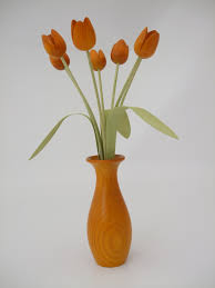 Wooden Vases Uk Classically Styled Vase Of Flowers In Stained Ash By Martin Jones