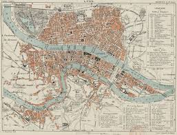 Map Of Lyon France by Archi Maps