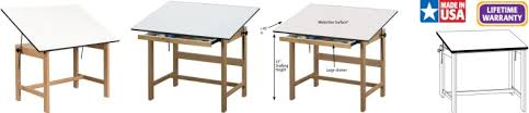 Oak Drafting Table Alvin Titan Oak Wood Drafting Tables Are Usa Made Tables Built To Last