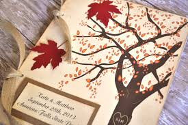fall wedding guest book fall autumn guest book leaves tree rustic country fall wedding