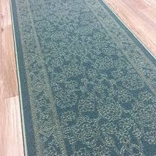 Wide Runner Rug Rubber Back Non Slip 26 X 72 Fancy Print Traditional