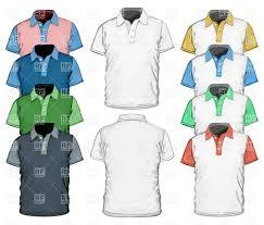 men u0027s polo shirt full color design template vector clipart image