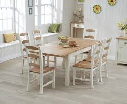 Buy The Somerset Cm Oak And Cream Extending Dining Table With - Cream kitchen table