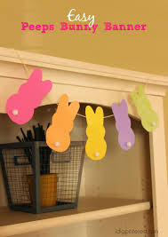 Easter Decorations Peeps by Easy Peeps Bunny Banner Easter Decoration I Dig Pinterest