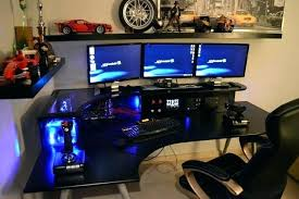 Gaming Desk Pc Pc Gamer Desks Collection In Gaming Desk Setup Gaming Desk Setup