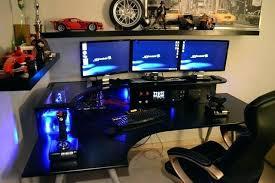 Gamer Computer Desks Pc Gamer Desks Miller Ergonomic Gaming Desk Pc Gamer Computer