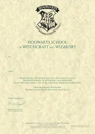 Hogwarts by Personalised Hogwarts Acceptance Letter Harry Potter Letter