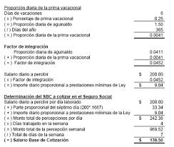 calculadora de salario diario integrado 2016 salario diario integrado semana ó jornada reducida el conta punto com