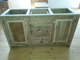 Amish Bathroom Vanities by Amish Built Unfinished Reclaimed Barn Wood 60