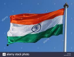 Flag Of Inida National Flag Of India 24 Spokes Wheel Is The Ashoka Chakra Stock