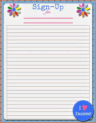 Potluck Signup Sheet Template Word Food Sign Up Sheet Sop Exle