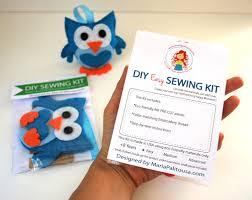 mini owl sewing kit felt hand sewing kit with precut felt craft