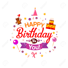 vector happy birthday card birthday cake and gifts vector