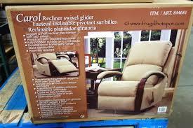 costco synergy home carol recliner swivel glider 299 99 frugal