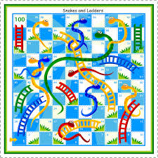 kids under 7 snakes and ladders board game