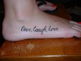 live laugh love and stars tattoo on foot all tattoos for men