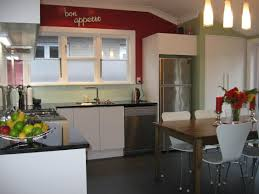 kitchen stainless steel countertops with glass pendant light and