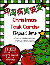christmas themed elapsed time practice free