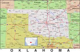 Map Oklahoma Map Of Oklahoma And Arkansas Wisconsin Map